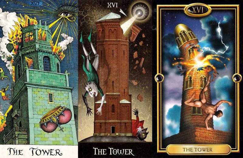 16 - The Tower Tarot Card Meaning * Tarot and Horoscopes