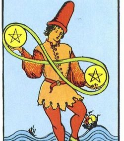 two of pentacles in relationship reading